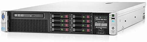 HP ProLiant DL380p Gen8 2U RackMount 64-bit Server 2×Ten-Core E5-2690v2 Xeon 3.0GHz CPUs 128GB PC3-12800R RAM 8×300GB SAS SFF P420i RAID DVD-ROM 4×GigaBit NIC 2×Power Supplies NO OS (Renewed)