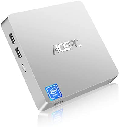 Mini PC, ACEPC T11 Windows 10 Pro(64-bit) Intel x5-Z8350 Fanless Mini Computer with HDMI/VGA Port,4K HD,4GB/64GB eMMC,2.4/5G WiFi,Gigabit Ethernet,Support 2.5-Inch SATA SSD/HDD,Auto Power On