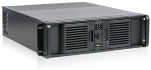 iStar D Storm D-300-PFS Front-mounted ATX Power Supply 3U Rackmount Server Chassis, Black