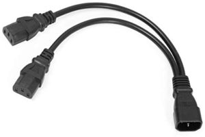 UPS Server C14 to 2 x C13 Y Splitter Adapter Extension Power Cable Cord (13.5 inch)