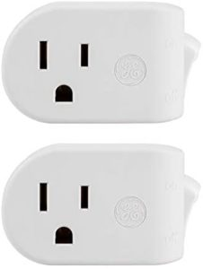UltraPro, White, GE Grounded On/Off Power Switch 2 Pack, Plug, Energy Efficient, Space Saving Design, UL Listed, 15A, 120VAC, 1800W, 39713