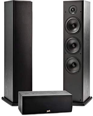 Polk Audio T Series 3 Channel Home Theater Bundle | Includes One (1) T30 Center Channel & Two (2) T50 Tower Speakers | Dolby and DTS Surround