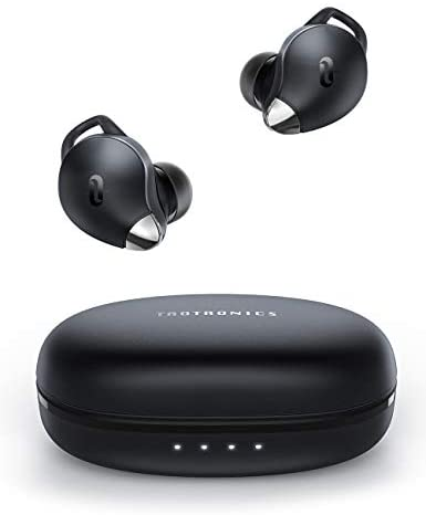 True Wireless Earbuds TaoTronics SoundLiberty 79 Smart AI Noise Reduction Technology for Clear Calls, Single/Twin Mode, 30H Playtime, USB Type C, IPX8, with Charging Case, Silver Black