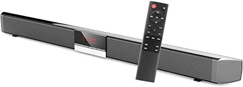 Soundbar for TV – Bluetooth Sound Bar, Channel Home Theater with Subwoofer, Surround Sound System & Remote Control, TV Speakers Connects to Bluetooth, AUX, Optical Fiber, USB (Wall Mountable)
