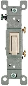 Leviton 1451-2T Framed Grounded Toggle Switch, 120 V, 15 A, 1 P, Count, Light Almond