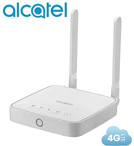 Router Alcatel Link Hub 4G LTE Unlocked Worldwide HH41NH Multibam 150 Mbps Wi-Fi (4G LTE USA Latin Caribbean Euro Asia Africa) + RJ45 Up to 32 Users HH41NH-2BTGMXA-1