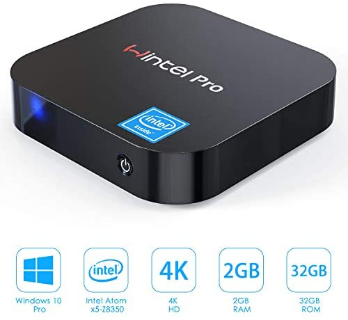 GUZILA Mini PC,Windows 10 Pro with Intel Atom Z8350 Processor,2GB DDR3,32GB eMMC,Fanless Mini Computer