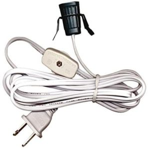 National Artcraft Replacement Lamp Cord Has Clip-in Candelabra Socket, Rotary Switch And Molded End Plug. 6 Ft. (Pkg/1)