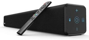Sound Bar, BESTISAN 100 Watt 2.1 Channel Sound Bars for TV with Built in Subwoofer (32 inch, Bluetooth 5.0, 3 Audio Modes, Bass Adjustable, Wall Mountable, Touch Control)