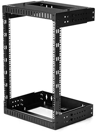 StarTech.com 15U 19″ Wall Mount Network Rack – Adjustable Depth 12-20″ 2 Post Open Frame Server Room Rack for AV/Data/ IT Communication/Computer Equipment/Switch w/Cage Nuts & Screws (RK15WALLOA)