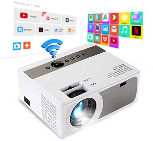 Projector, Mini Projector WiFi Android Home Media Video Player with Hi-Fi Speakers(Android Version)