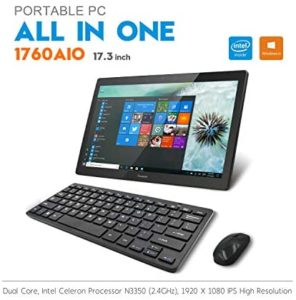 iView 1760AIO64 PRO 17.3″ All in One Computer IPS 1920 x 1080 Touch Screen, Intel Celeron, 4GB RAM (Expandable Notebook Drive), WiFi 2.4/5GHz, Front Camera, Wireless Keyboard & Mouse (Win 10 Pro)