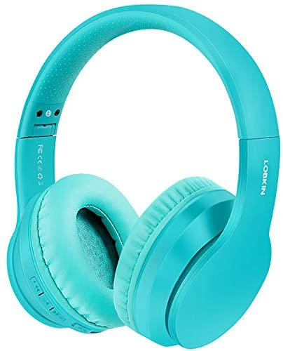 Lobkin Wireless Over-Ear, Bluetooth 5.0 Handsfree Built-in Mic, Hi-Fi Sound Stereo Noice Reduce, Foldable Protein Earpads for Online Class, Business Home Office, Game/TV/PC/Phone Headphones (Green)