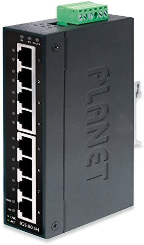 IGS-801M IP30 Industrial SNMP Switch 8-Port 10/100/1000Base-TX (-40~ 75C)