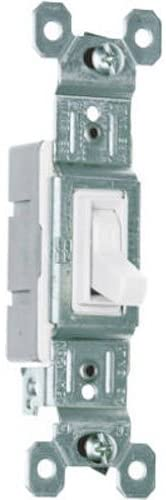 Legrand-Pass & Seymour, White, Pass & Seymour 660WGCP Trademaster Single Pole Switch, 10-Pack