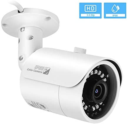 HD Security Camera,IP Network Camera,Outdoor/Indoor Surveillance Camera with 3.0MP H.265 Camera+50m IR Night Vision+IP66 Waterproof,Bullet Camera for Home Security,Support ONVIF