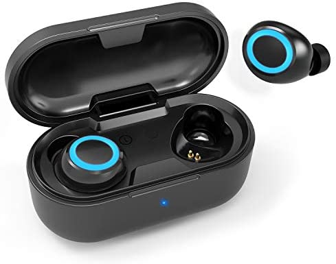 KVAGO Wireless Earbuds TWS Bluetooth 5.1 HiFi Stereo Noise Reduction Heavy Bass Music Call Headset IPX5 Waterproof, Built-in High-Definition Microphone