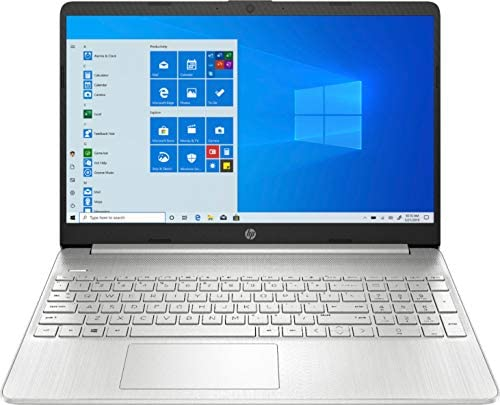 HP 2020 Newest 15.6″ HD Touchscreen Intel 10th Gen i5-1035G1 3.6GHz 12GB RAM 256GB SSD Webcam Wireless-AC Bluetooth Type-C HDMI Win10 Silver Laptop