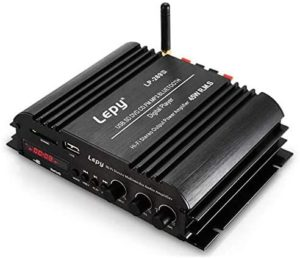 PolarLander Bluetooth HiFi Digital Stereo Amplifier 4-Channel Powerful Sound Compatible with Car Motorcycle Computer Speaker