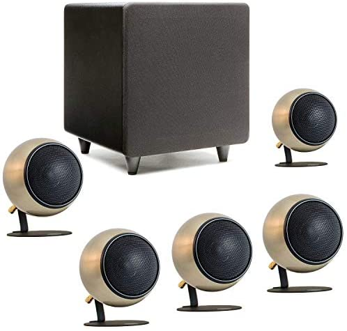 Orb Audio: Mod1 Mini 5.1 Home Theater Speaker System – Surround Sound System – Includes 5 Orbs and 9'' Subwoofer – Great for Movies & Music – Handmade in The US