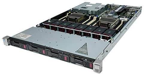 TechMikeNY Server 2.80Ghz 20-Core 64GB 2X 300GB 15K 12G 2X 1.2TB 12G ProLiant DL360P G8 (Renewed)