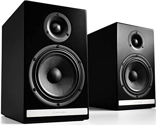Audioengine HDP6 Passive Home Audio Bookshelf Speakers (Satin Black Paint, 1 Pair) – AV Receiver or Integrated Amp Required