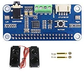 Waveshare WM8960 Hi-Fi Sound Card HAT Stereo CODEC Playing and Recording I2S Interface for Raspberry Pi Zero/Zero W/Zero WH/2B/3B/3B+