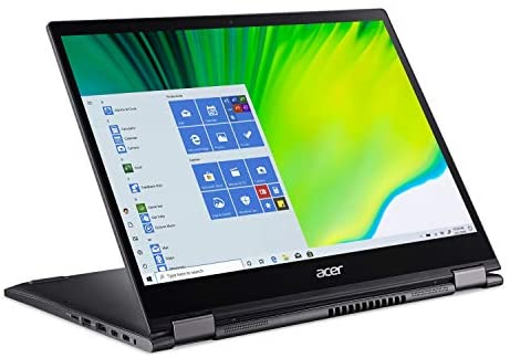 Acer Spin 5 Convertible Laptop, 13.5″ 2K 2256 x 1504 IPS Touch, 10th Gen Intel Core i7-1065G7, 16GB LPDDR4X, 512GB NVMe SSD, WiFi 6, Backlit KB, FPR, Rechargeable Active Stylus, SP513-54N-74V2