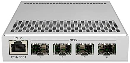 MikroTik 5-Port Desktop Switch, 1 Gigabit Ethernet Port, 4 SFP+ 10Gbps Ports (CRS305-1G-4S+IN)