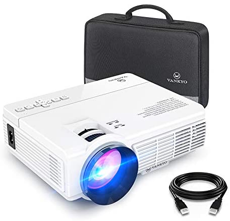 "VANKYO LEISURE 3 Mini Projector, 1080P and 170"" Display Supported, Portable Movie Projector with 40,000 Hrs LED Lamp Life, Compatible with TV Stick, PS4, HDMI, VGA, TF, AV and USB"