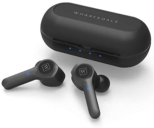 Wharfedale Wpods, Bluetooth 5.0 Wireless Headphones,TWS Wireless Earbuds in-Ear, Stable Connection, HiFi Sound Quality,Touch Control,Noise-Cancelling Microphones