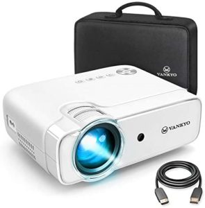 VANKYO Leisure 430 (2020 Upgraded ) Projector, Mini Video Projector with 50,000 Hours LED Lamp Life, 236″ Display, Support 1080P, HiFi Built-in Speaker, Compatible with HDMI, SD, AV, VGA, USB