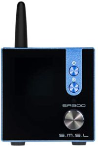 S.M.S.L SA300 HiFi Digital Amplifier, Infineon's New Technology Class D Power Amp Chip, Bluetooth 5.0 APTX, Multiple EQ Modes with Remote Control (Blue)