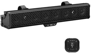 BOSS Audio Systems BRRC27 27 Inch ATV UTV Sound Bar – IPX5 Weatherproof, 3 Inch Speakers, 1 Inch Tweeters, Built-in Amplifier, Bluetooth, Built-in Dome Lights, Easy Installation for 12 Volt Vehicles