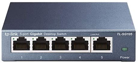 TP-Link 5 Port Gigabit Ethernet Network Switch (TL-SG105) – Ethernet Splitter | Plug & Play | Fanless | Sturdy Metal w/ Shielded Ports | Traffic Optimization | Unmanaged | Lifetime Protection