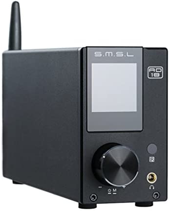 S.M.S.L AD18 HiFi Audio Stereo Amplifier with Bluetooth 4.2 Supports Apt-X,USB DSP Full Digital Power Amplifier 2.1 for Speaker,Small 80Wx2 Class D Amplifier with Subwoofer Output