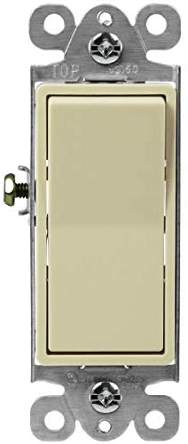 ENERLITES Illuminated 3-Way Decorator Paddle Light Switch, Three Way, Push-in and Side Wiring, Copper Wire Only, Grounding Screw, Residential Grade, 15A 120-277V, UL-Listed, 93160-I, Ivory