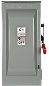 Siemens HNF363R 100-Amp 3 Pole 600-volt 3 Wire Non-Fused Heavy Duty Safety Switches, COLOR