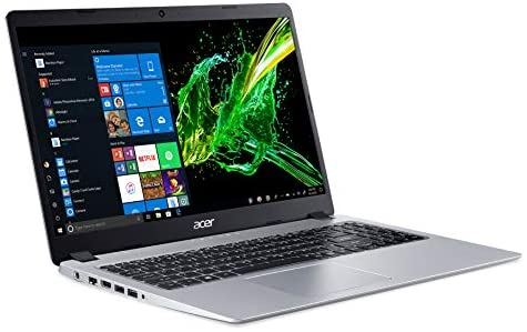Acer Aspire 5 Slim Laptop, 15.6″ Full HD IPS Display, AMD Ryzen 5 3500U, Vega 8 Graphics, 8GB DDR4, 256GB SSD, Backlit Keyboard, Windows 10 Home, A515-43-R5RE, Silver