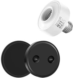LoraTap Wireless Remote Control E26 Light Socket Kit 656ft 915MHz Range On Off Switch for LED Bulbs and Fixtures 30W Max, 5 Years Warranty (Black)