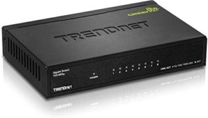 TRENDnet 8-Port Gigabit GREENnet Switch, TEG-S82G, Ethernet Splitter, Ethernet/Network Switch, 8 x 10/100/1000 Mbps Gigabit Ethernet Ports,16 Gbps Switching Capacity, Metal, Lifetime Protection