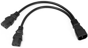 UPS Server Y Splitter C14 to 2 x C13 Power Extension Cable