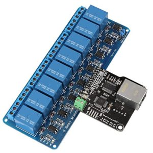 1Pc Relay Network Ethernet Relay Controller Module Control Board LAN WAN Network Web Server with RJ 45 Interface + 8 Channel Relay Module for Smart Home Remote Control
