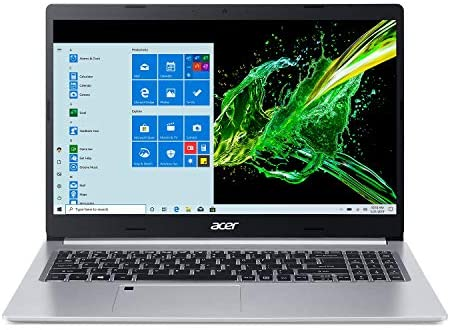 Acer Aspire 5 A515-55-56VK, 15.6″ Full HD IPS Display, 10th Gen Intel Core i5-1035G1, 8GB DDR4, 256GB NVMe SSD, WiFi 6, HD Webcam, Fingerprint Reader, Backlit Keyboard, Windows 10 Home