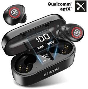 Wireless Earbuds,Kovon Bluetooth Headphones Qualcomm APTX5.0 Bluetooth Earbuds 32H Playtime in Ear Deep Bass HiFi Sound Wireless Earphones CVC8.0 Built in Mic Binaural Call With Charging Case