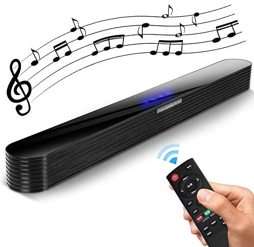 Sound Bars for tv, Soundbar with Subwoofer Luxury Acrylic Touch Screen Bluetooth 5.0 Optical/Aux/RCA/USB/Coaxial Connection for Home Theater (34 inch Soundbar)