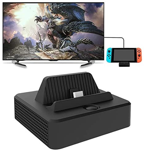 for Nintendo Switch TV Dock Station, Compact Switch to HDMI Adapter, Portable Switch Dock with USB 3.0 Port, Charging Dock Station Cradle for Nintendo Switch Controller