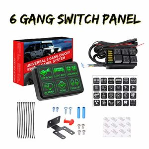 6 Gang Switch Panel, Swatow Industries Electronic Relay System Circuit Control Box Universal Touch Switch Box Power System for Truck Car SUV ATV UTV Boat Marine Waterproof