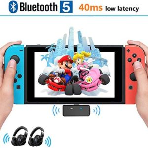 TOKSEL Bluetooth Adapter for Nintendo Switch/Switch Lite PS4 PC, Dual Stream USB C Audio Transmitter Adapter with Low Latency, in-Game Voice Chat Compatible with AirPods PS4 Bose Sony