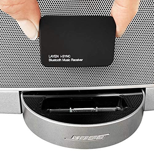 LAYEN i-SYNC Bluetooth Receiver 30 pin Adapter – Audio Dongle for Bose SoundDock and Other Hi-Fi, Stereo and 30 pin Docking Stations (Not Suitable for Car)